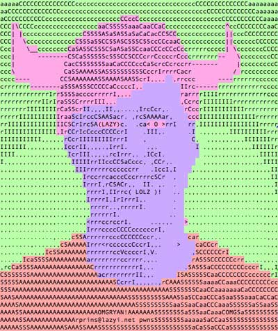 ASCII Ryan Colored